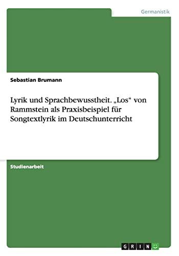 9783656842699: Lyrik und Sprachbewusstheit. Los