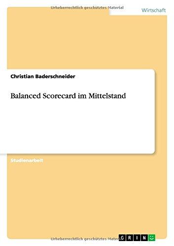 9783656842934: Balanced Scorecard im Mittelstand (German Edition)