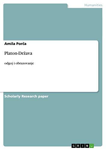 9783656868798: Platon-Drzava