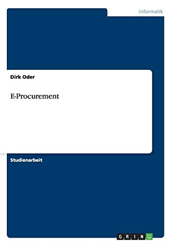9783656905004: E-Procurement (German Edition)