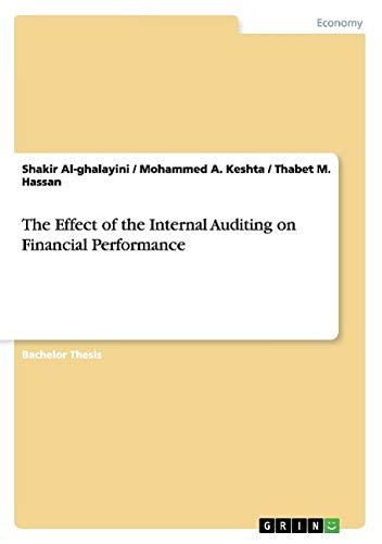 9783656943051: The Effect of the Internal Auditing on Financial Performance