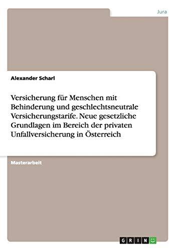 Versicherung für Menschen mit Behinderung und geschlechtsneutrale: Scharl, Alexander