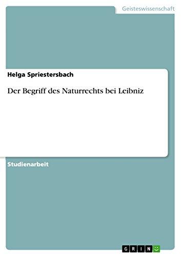 9783656961475: Der Begriff des Naturrechts bei Leibniz