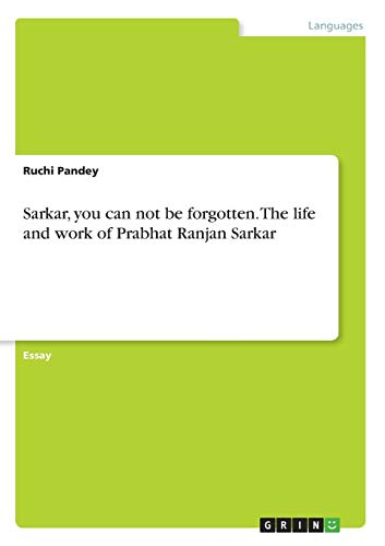Sarkar, you can not be forgotten. The: Pandey, Ruchi