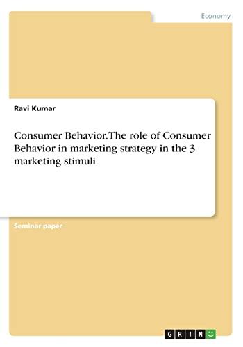 consumer behavious and marketing strategy towards