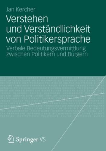 Verstehen und Verständlichkeit von Politikersprache: Jan Kercher