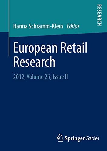 9783658007164: European Retail Research: 2012, Volume 26, Issue II