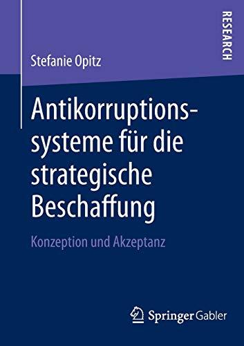 Antikorruptionssysteme für die strategische Beschaffung: Stefanie Opitz
