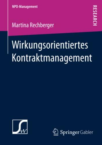Wirkungsorientiertes Kontraktmanagement: Martina Rechberger