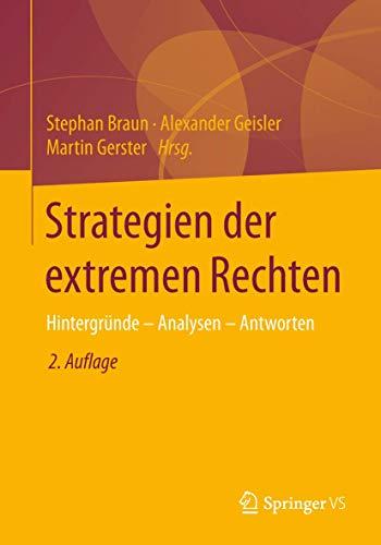 9783658019839: Strategien der extremen Rechten: Hintergründe - Analysen - Antworten