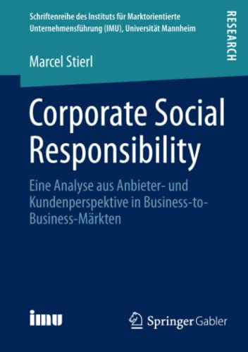 Corporate Social Responsibility: Marcel Stierl