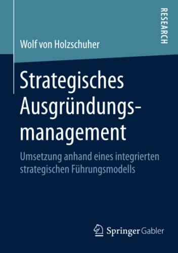 Strategisches Ausgründungsmanagement: Wolf von Holzschuher