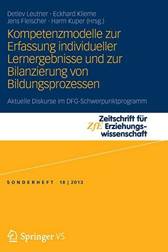 Kompetenzmodelle Zur Erfassung Individueller Lernergebnisse Und Zur Bilanzierung Von ...