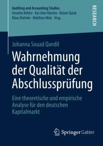 Wahrnehmung der Qualität der Abschlussprüfung: Johanna Souad Qandil