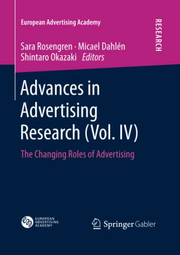 9783658042165: Advances in Advertising Research (Vol. IV): Volume 4 (European Advertising Academy)