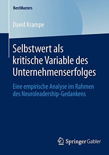 Selbstwert als kritische Variable des Unternehmenserfolges: David Krampe