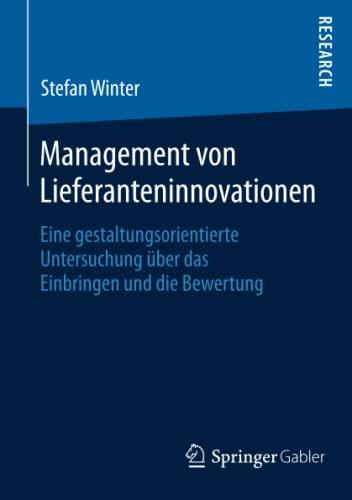Management von Lieferanteninnovationen: Stefan Winter