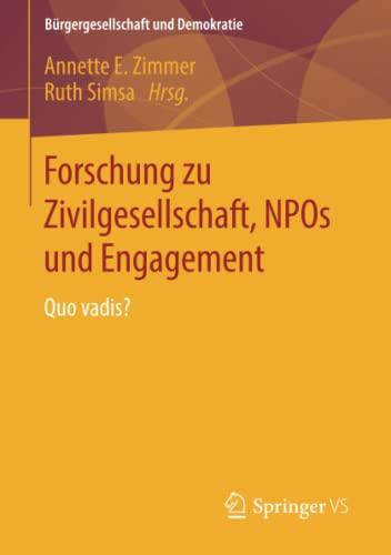 Forschung zu Zivilgesellschaft, NPOs und Engagement: Ruth Simsa