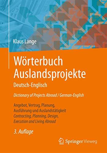 9783658064839 Worterbuch Auslandsprojekte Deutsch Englisch