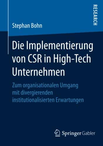 Die Implementierung von CSR in High-Tech Unternehmen: Stephan Bohn
