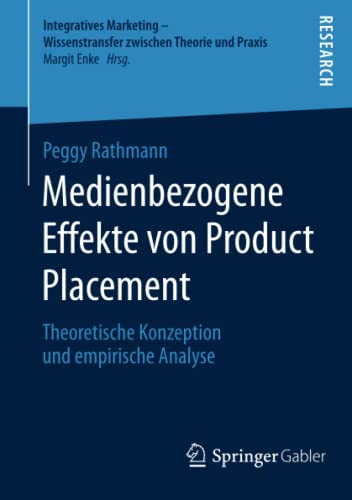 Medienbezogene Effekte von Product Placement: Peggy Rathmann