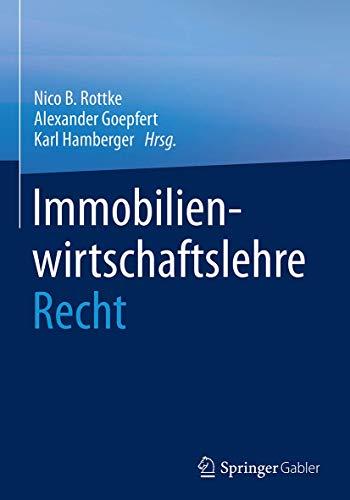 9783658069865: Immobilienwirtschaftslehre - Recht (German Edition)
