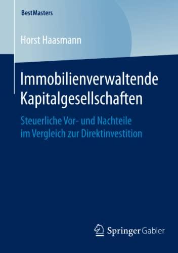 Immobilienverwaltende Kapitalgesellschaften: Horst Haasmann