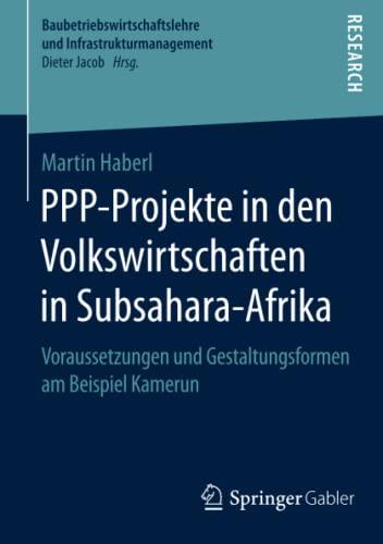 PPP-Projekte in den Volkswirtschaften in Subsahara-Afrika: Martin Haberl