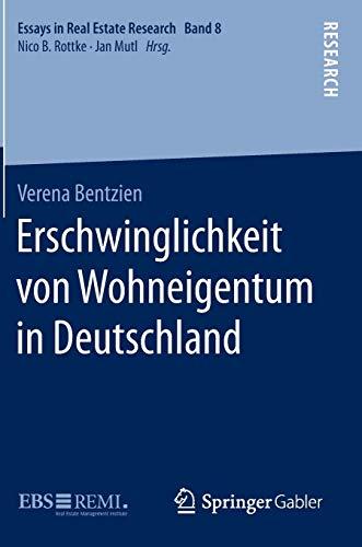 Erschwinglichkeit von Wohneigentum in Deutschland: Verena Bentzien