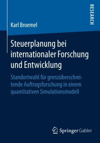 Steuerplanung bei internationaler Forschung und Entwicklung: Karl Broemel