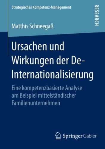 Ursachen und Wirkungen der De-Internationalisierung: Matthis Schneegaß
