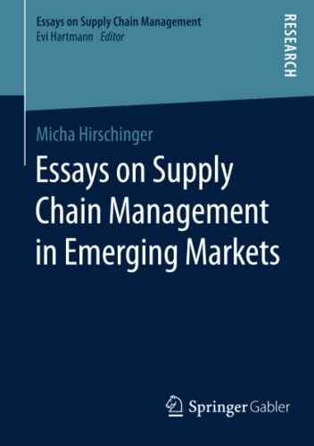9783658119454: Essays on Supply Chain Management in Emerging Markets