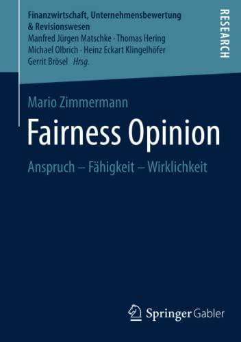 Fairness Opinion: Mario Zimmermann