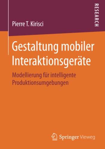 Gestaltung mobiler Interaktionsgeräte: Pierre T. Kirisci