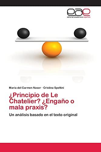Principio de Le Chatelier? Engano O Mala Praxis?: Cristina Speltini