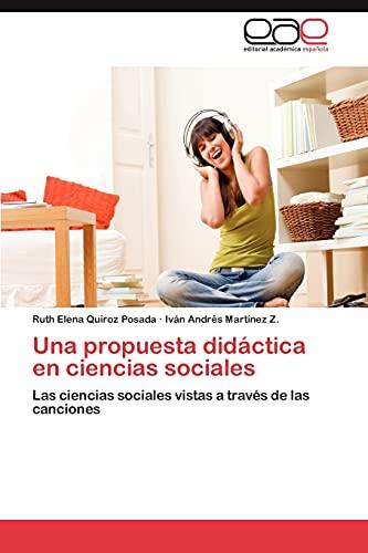 Una Propuesta Didactica En Ciencias Sociales: Ruth Elena Quiroz Posada