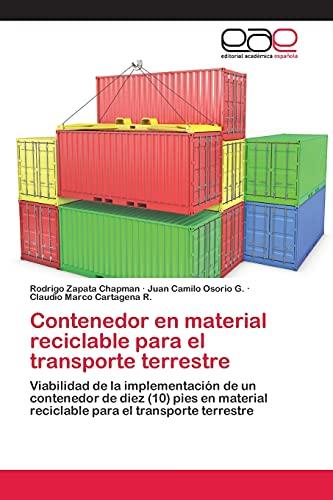 9783659027093: Contenedor en material reciclable para el transporte terrestre