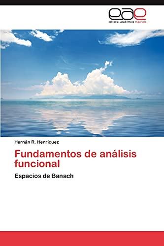 9783659031014: Fundamentos de análisis funcional: Espacios de Banach (Spanish Edition)