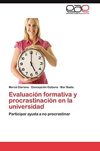 9783659031168: Evaluacion Formativa y Procrastinacion En La Universidad