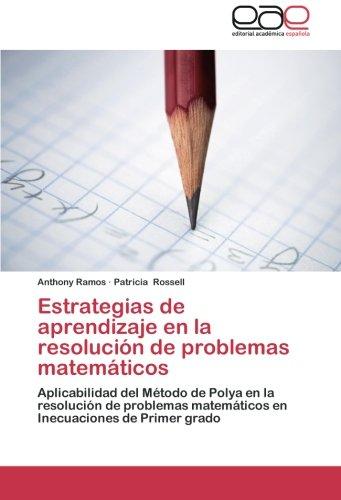 Estrategias de aprendizaje en la resolución de: Anthony Ramos, Patricia