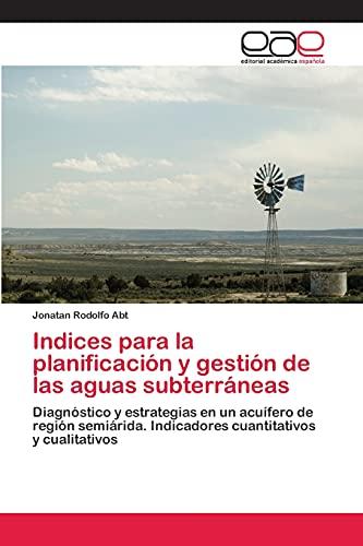 Indices para la planificación y gestión de las aguas subterráneas: Diagnóstico y estrategias en un ...
