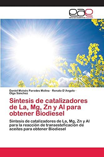 Sintesis de Catalizadores de La, MG, Zn y Al Para Obtener Biodiesel: Daniel Moisàs Paredes Molina