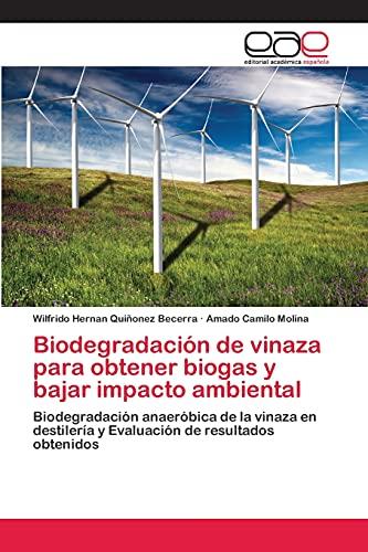 9783659078071: Biodegradación de vinaza para obtener biogas y bajar impacto ambiental: Biodegradación anaeróbica de la vinaza en destilería y Evaluación de resultados obtenidos (Spanish Edition)