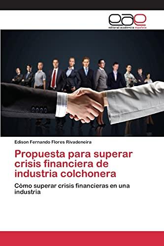 9783659101908: Propuesta para superar crisis financiera de industria colchonera: Cómo superar crisis financieras en una industria (Spanish Edition)