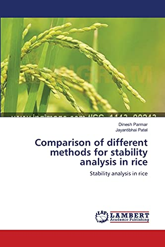 9783659110962: Comparison of different methods for stability analysis in rice: Stability analysis in rice