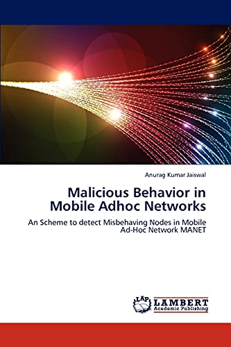 Malicious Behavior in Mobile Adhoc Networks: Anurag Kumar Jaiswal
