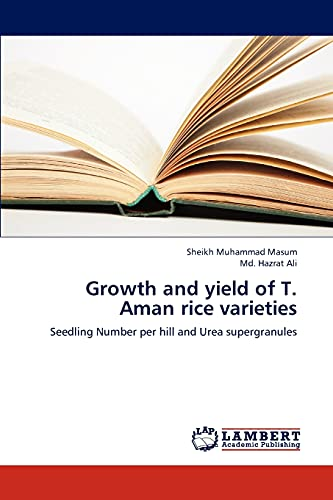 Growth and Yield of T. Aman Rice Varieties: Md. Hazrat Ali