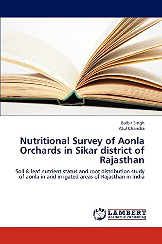 Nutritional Survey of Aonla Orchards in Sikar district of Rajasthan: Soil & leaf nutrient ...