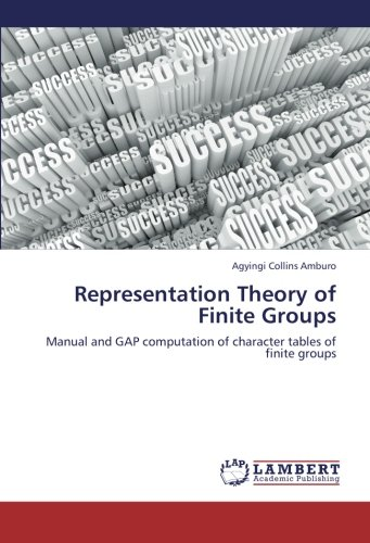 9783659246012: Representation Theory of Finite Groups: Manual and GAP computation of character tables of finite groups