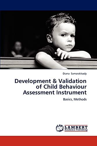 9783659247057: Development & Validation of Child Behaviour Assessment Instrument: Basics, Methods